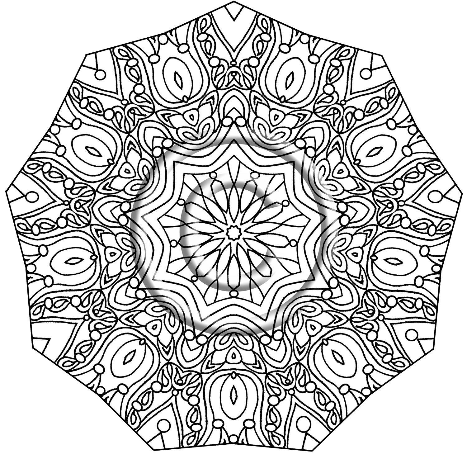 1500x1474 Mehndi Coloring Pages