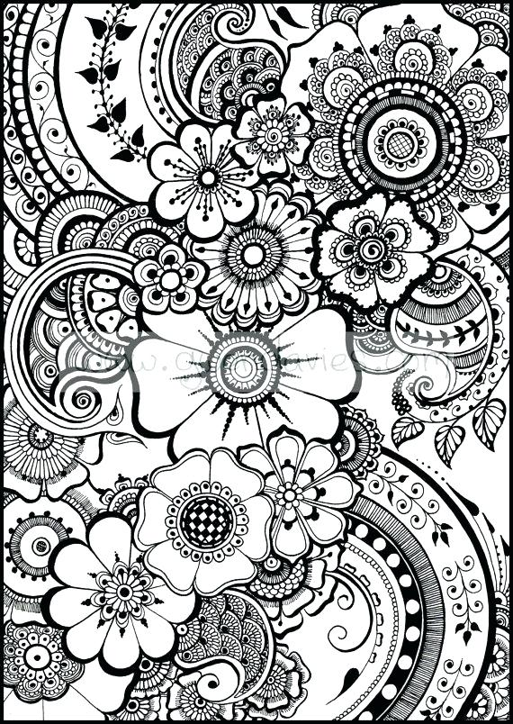 570x804 Mehndi Coloring Pages For Adults Printable Coloring Henna Coloring