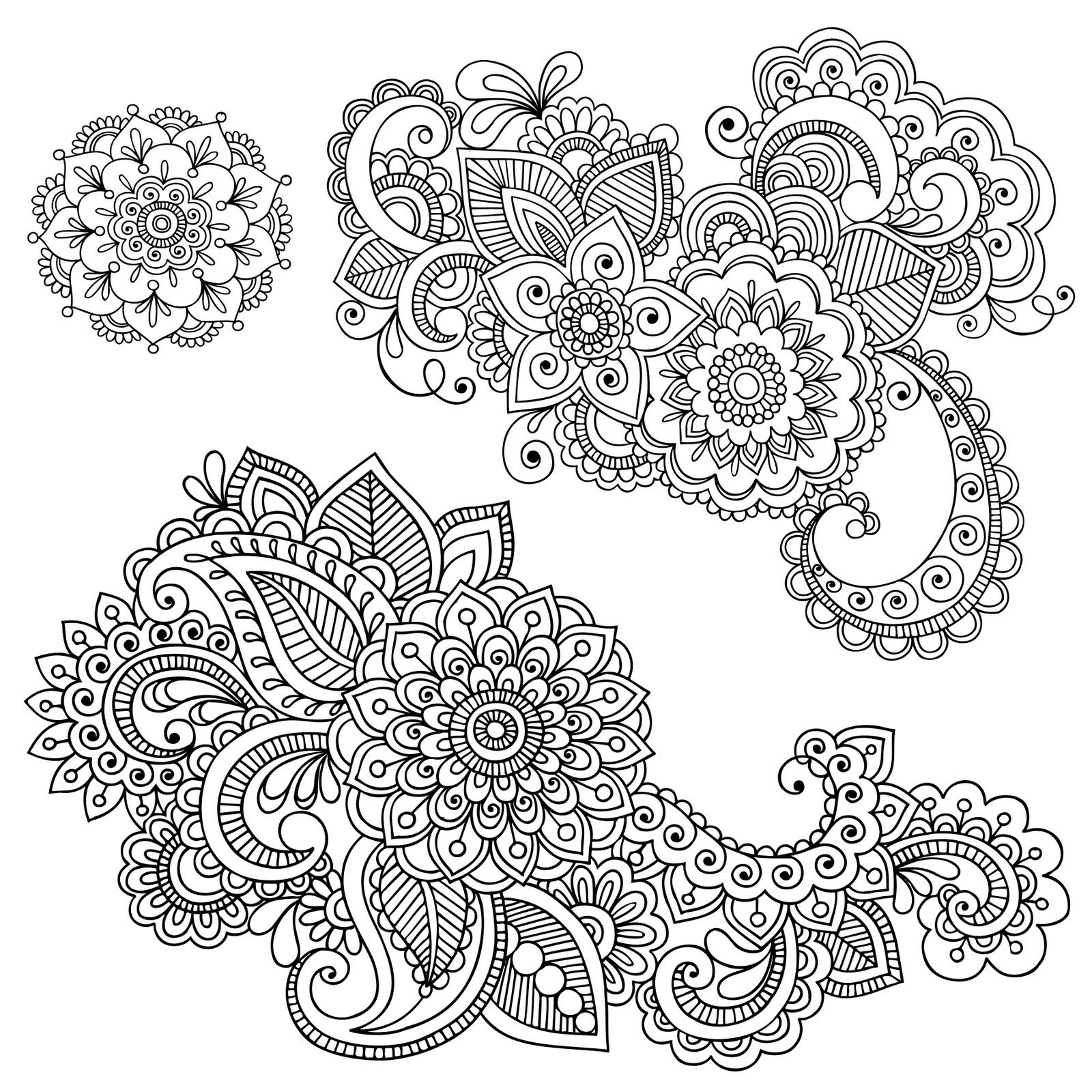 1600x1600 Mehndi Coloring Pages Luxury Mehndi Coloring Pages Wallpapers