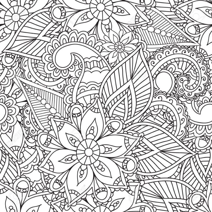 728x728 Mehndi Coloring Pages