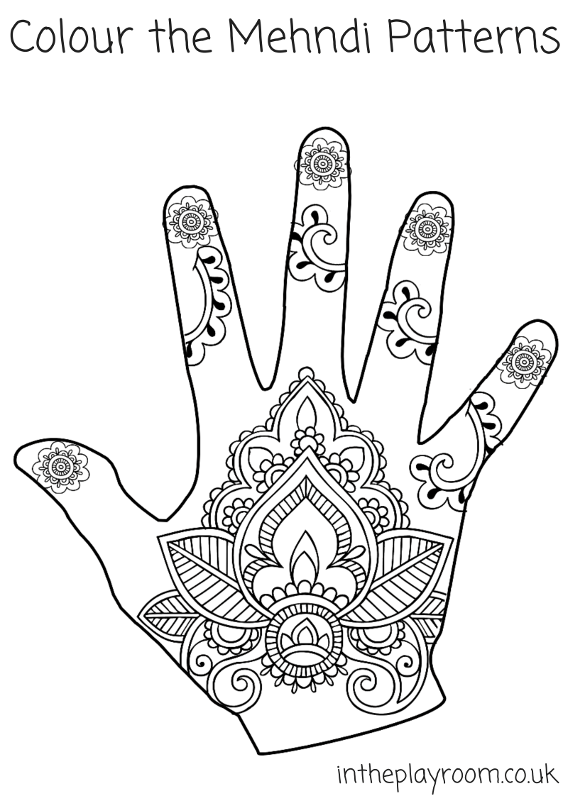 793x1122 Mehndi Hand Colouring Pages Mehndi Designs, Mehndi And Patterns