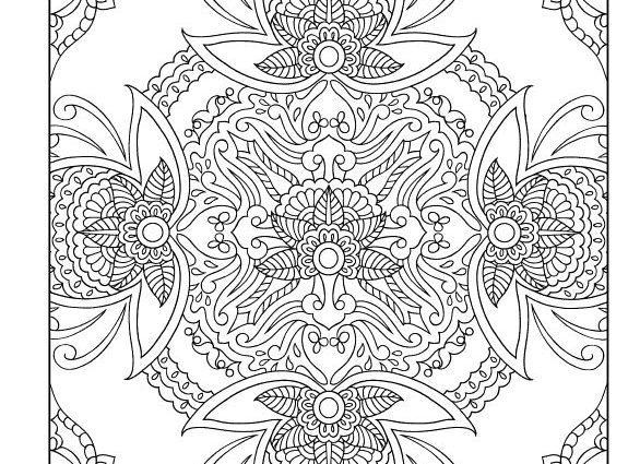 575x425 Mehndi Coloring Pages Mehndi Coloring Page Coloring Home