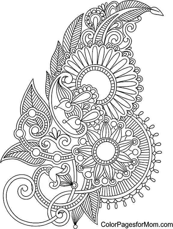 576x760 Coloring Mehndi Coloring Pages Pdf