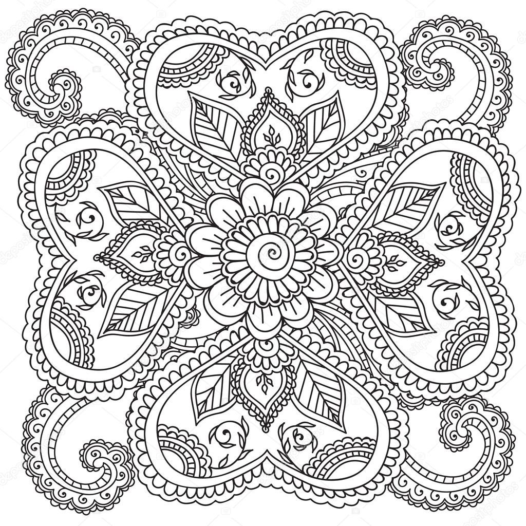 1024x1024 Coloring Pages Abstract Flowers Fresh Coloring Pages