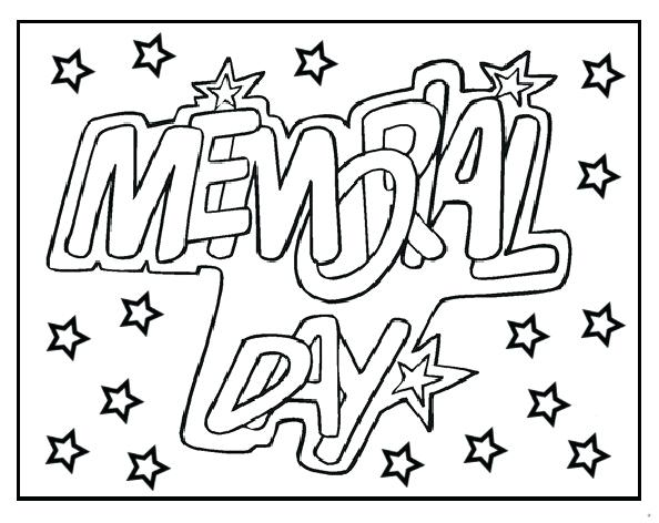 594x472 Memorial Day Coloring Pages Memorial Day Coloring Pages For Grade