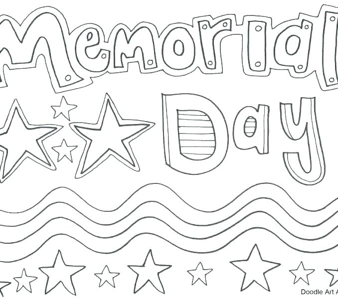 678x600 Memorial Day Coloring Pages Memorial Day Coloring Pages Memorial