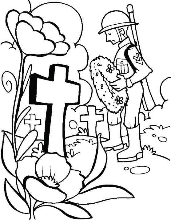 556x714 Memorial Day Coloring Pages Remembrance Day Military Coloring Page