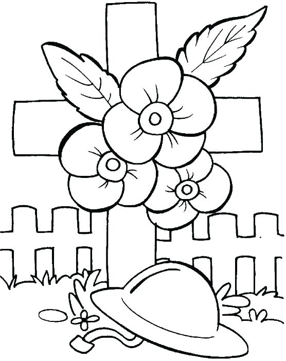 556x702 Remembrance Day Coloring Pages Sheets Memorial Cross Page