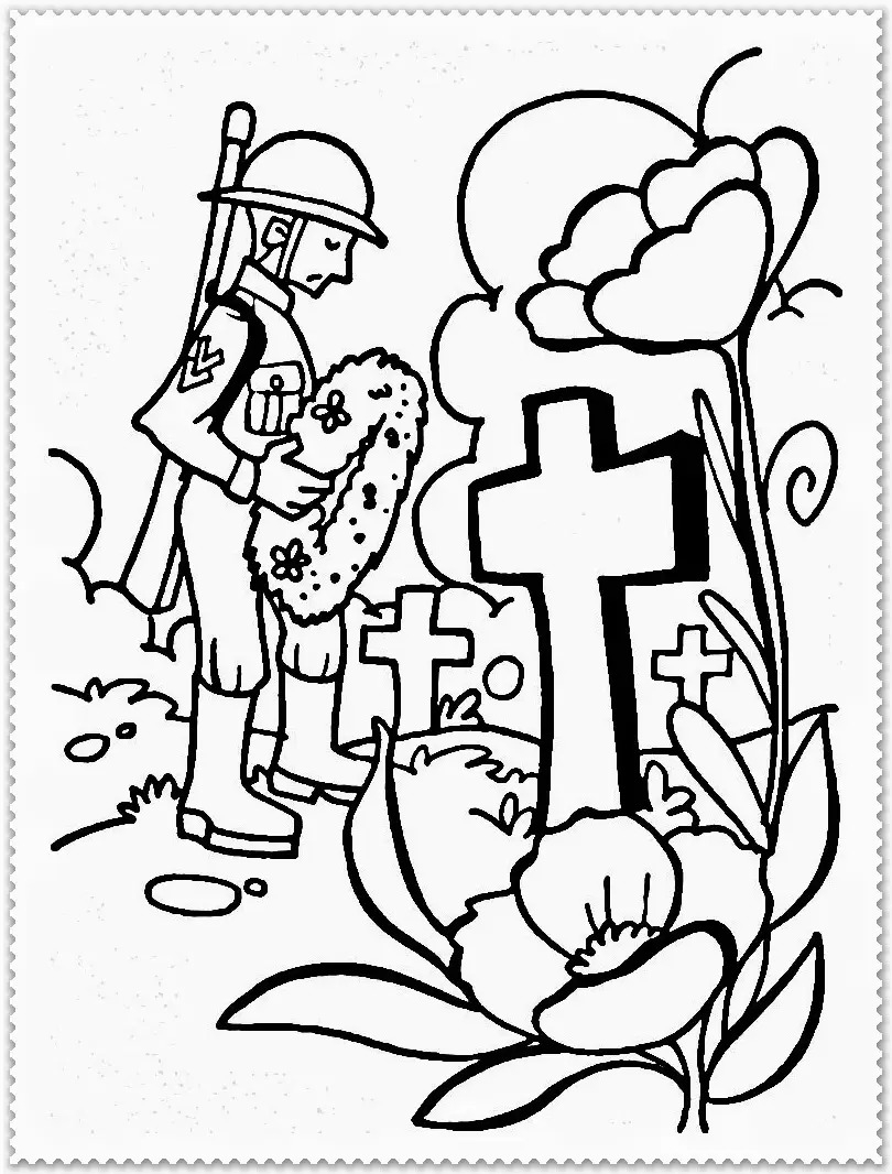 810x1066 Good Memorial Day Coloring Pages With Additional Picture