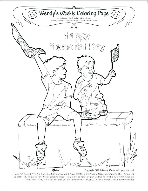 614x794 Memorial Day Coloring Pages Celebrations Veterans Memorial Day
