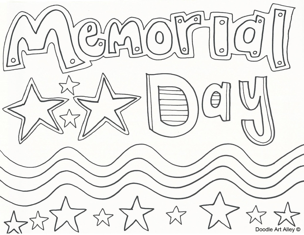 1035x800 Big Memorial Day Coloring Pages Pdf Doodle Art