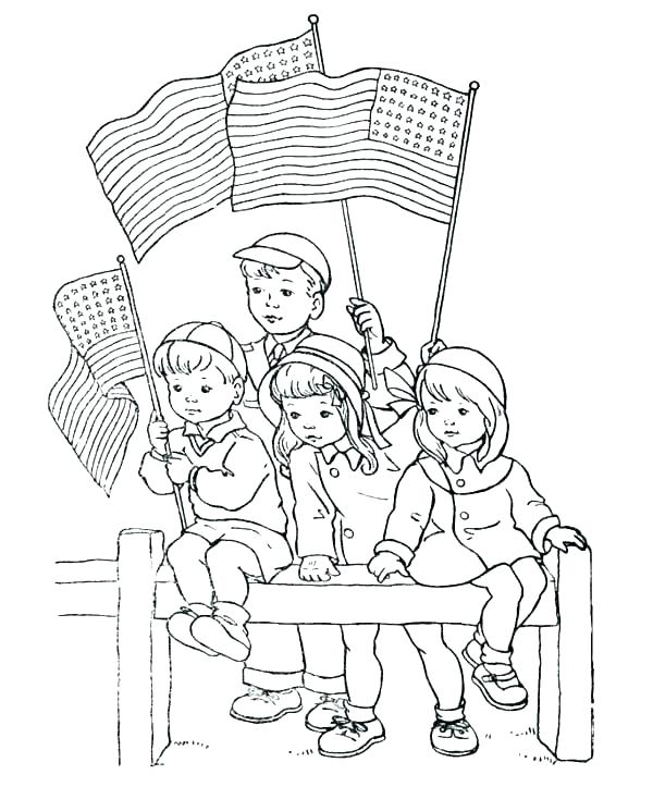 600x734 Memorial Day Coloring Pages Pictures For Kids Free Preschool Kid