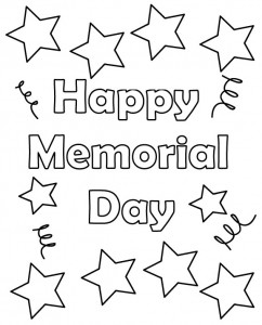 242x300 Memorial Day Coloring Pages Printable