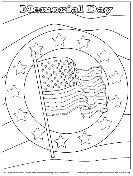 427x564 Memorial Day Coloring Page