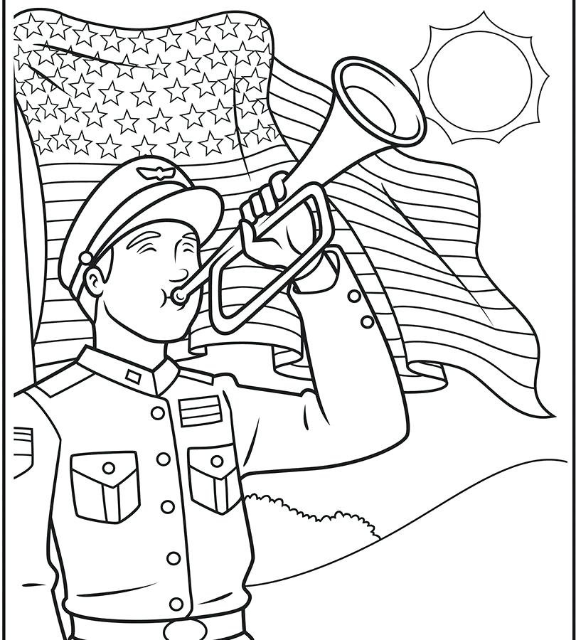 810x900 Memorial Day Coloring Pages