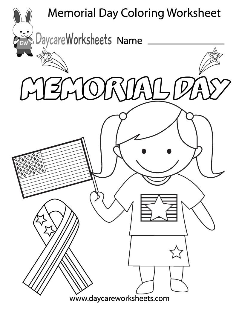 800x1035 Free Preschool Memorial Day Coloring Worksheet Unusual Pages