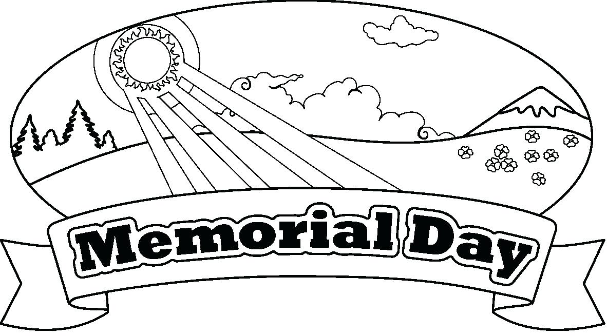 1182x655 Happy Memorial Day Coloring Sheets Pages For Preschoolers