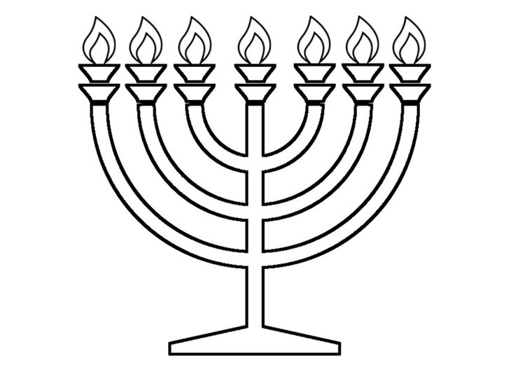 750x531 Menorah Coloring Page Collections Free Coloring Pages