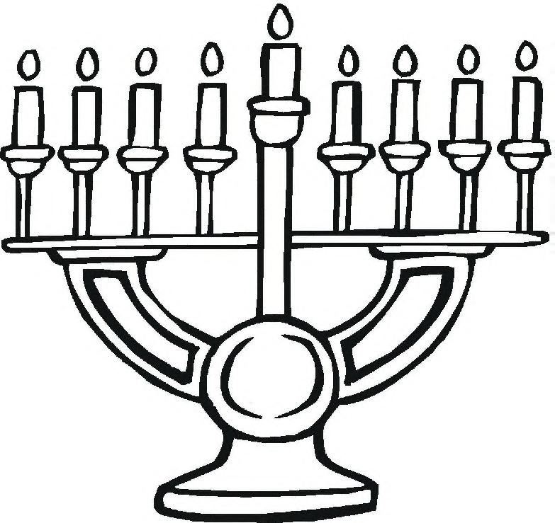 783x739 Menorah Coloring Page