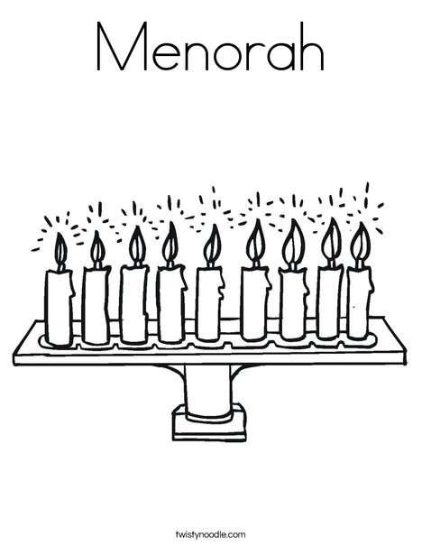 468x605 Menorah Coloring Page