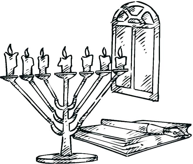 660x562 Menorah Coloring Pages Coloring Page Free Coloring Pages Menorah
