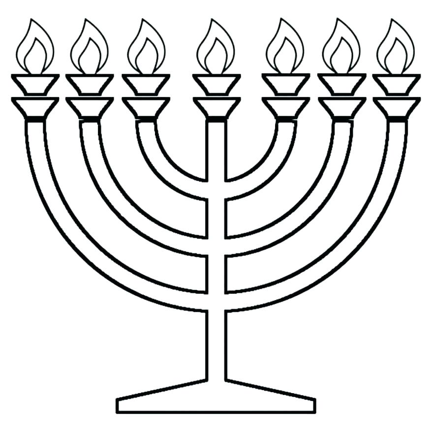 878x878 Menorah Coloring Pages Menorah Coloring Page S S Menorah Coloring