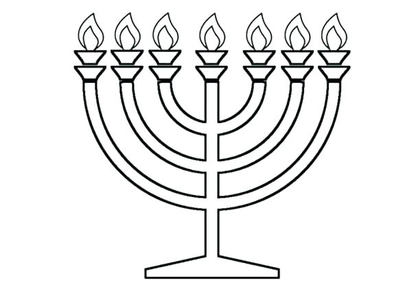 600x425 Menorah Coloring Pages This Is Menorah Coloring Page Pictures