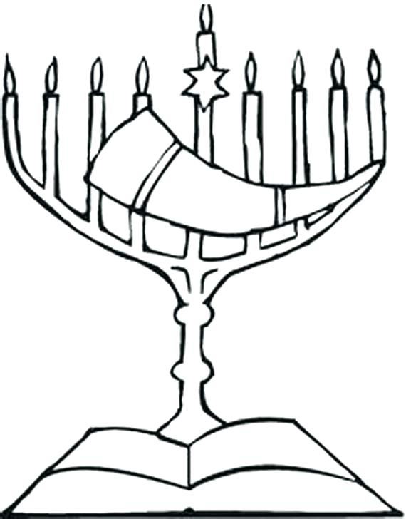 570x728 Menorah Connect The Dots Holidays Menorah Coloring Page
