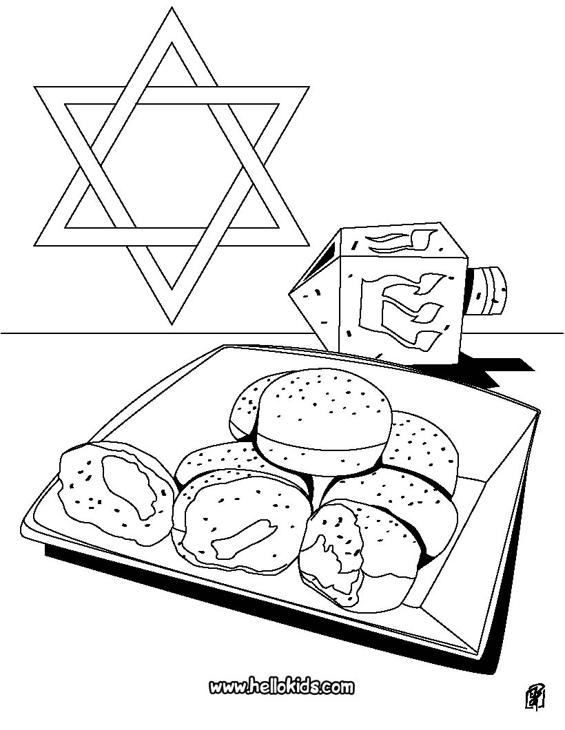820x1060 Menorah Coloring Pages