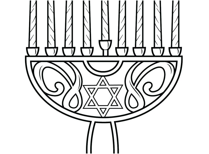 827x609 Hanukkah Coloring Pages