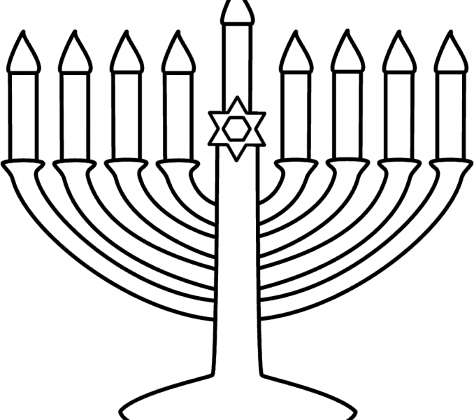 678x600 Menorah Coloring Page Menorah Coloring Page Best Coloring Pages