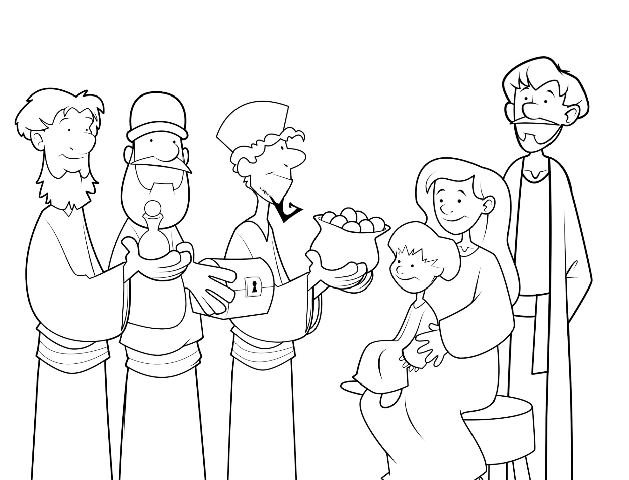 1250x955 Three Wise Men Coloring Pages