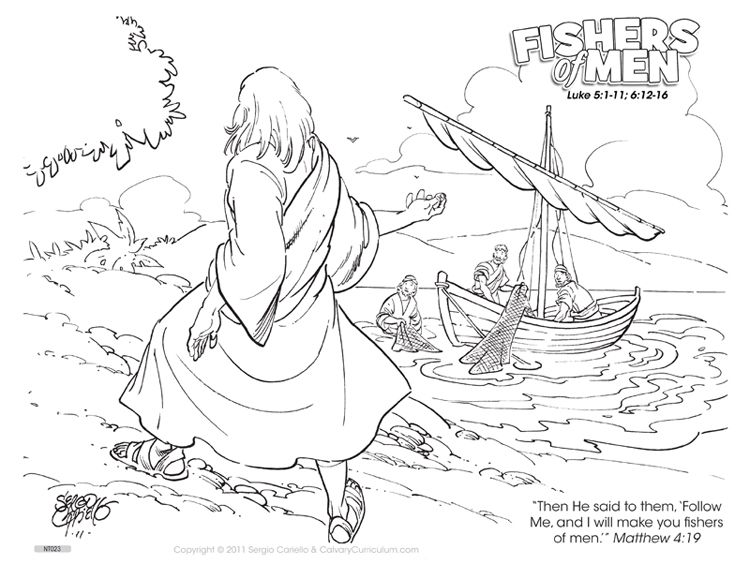 750x579 Fishers Of Men Color Page Fisher's Of Men Coloring Pages Http