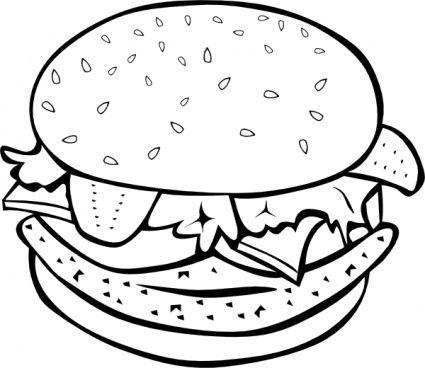425x368 Fast Food Lunch Dinner Ff Menu Clip Art