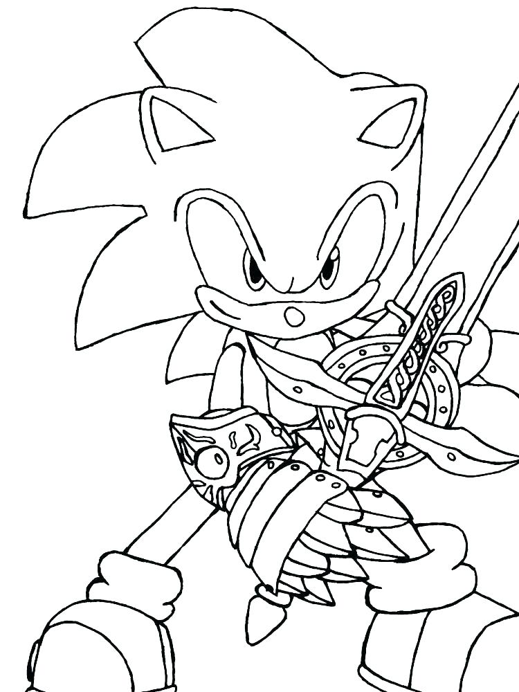 750x1000 Sonic Coloring Pages Coloring Pages Of Sonic The Hedgehog To Print