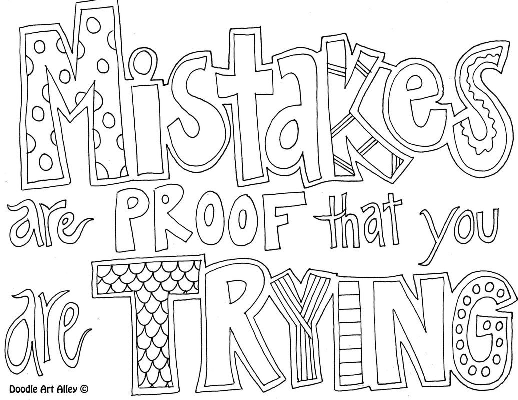 1035x800 Free Printable Doodle Art Coloring Pages Printables And Menu Quote