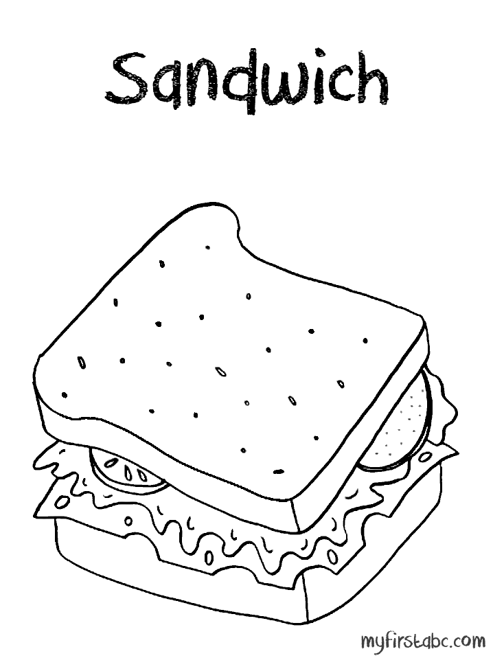 718x958 The Lunch Menu Colouring Pages, Lunch Coloring Pages