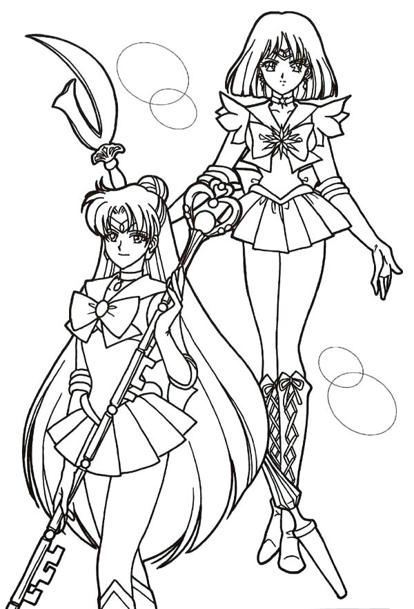 600x883 Mercury Coloring Pages Sailor Mercury And Sailor Mars In Sailor
