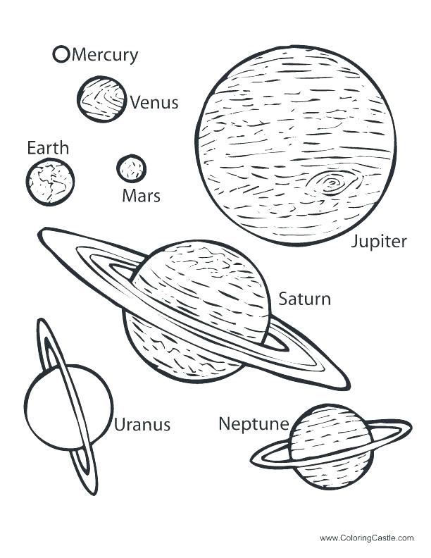 Mercury Planet Coloring Page