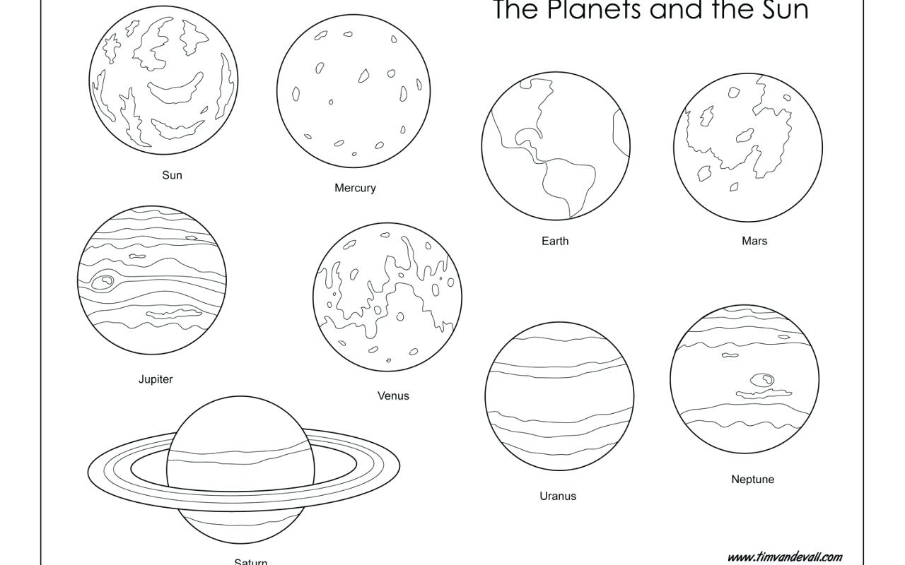 1280x800 Planet Pluto Coloring Pages To Print Rocket With Planets For Kids