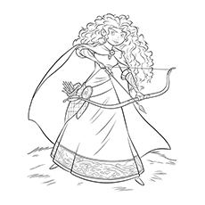 Merida Brave Coloring Pages