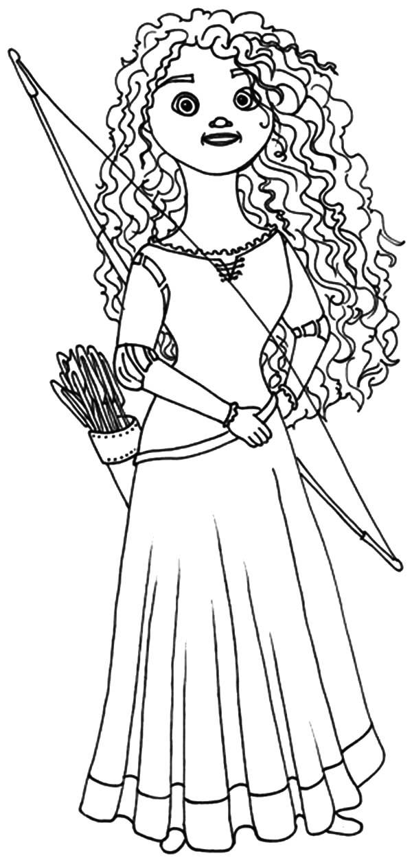 600x1253 Princess Merida Doll Coloring Pages Princess Merida Doll Coloring