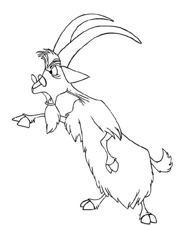 600x720 Merlin The Wizard Changing His Form Into A Goat Coloring Pages