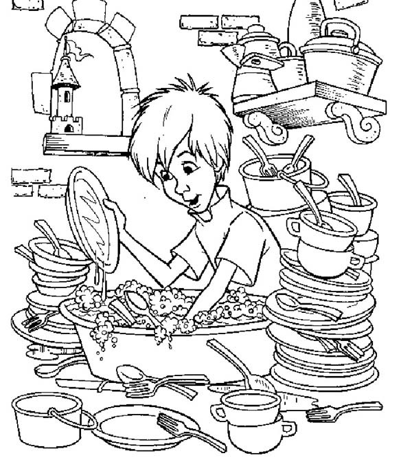 600x669 Merlin The Wizard Coloring Pages Washing A Lot Of Plates Bulk Color