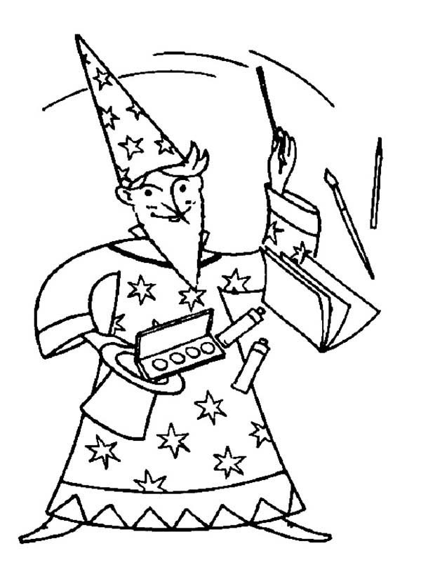 600x829 Merlin The Wizard Magic Show Coloring Pages Bulk Color