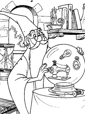 327x440 Sword In The Stone Coloring Page