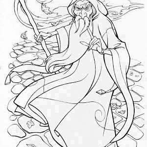 300x300 Wizard Coloring Pages Printable