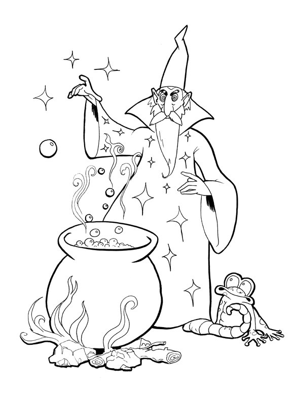 576x782 Bbc Merlin Coloring Pages