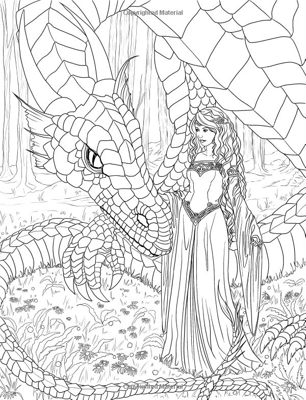 Mermaid Adult Coloring Pages