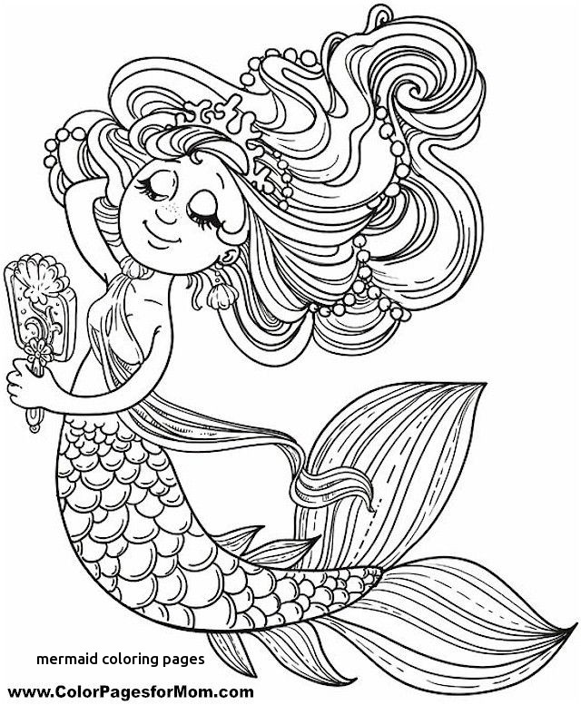 Mermaid Adult Coloring Pages At Getdrawings Com Free For Personal